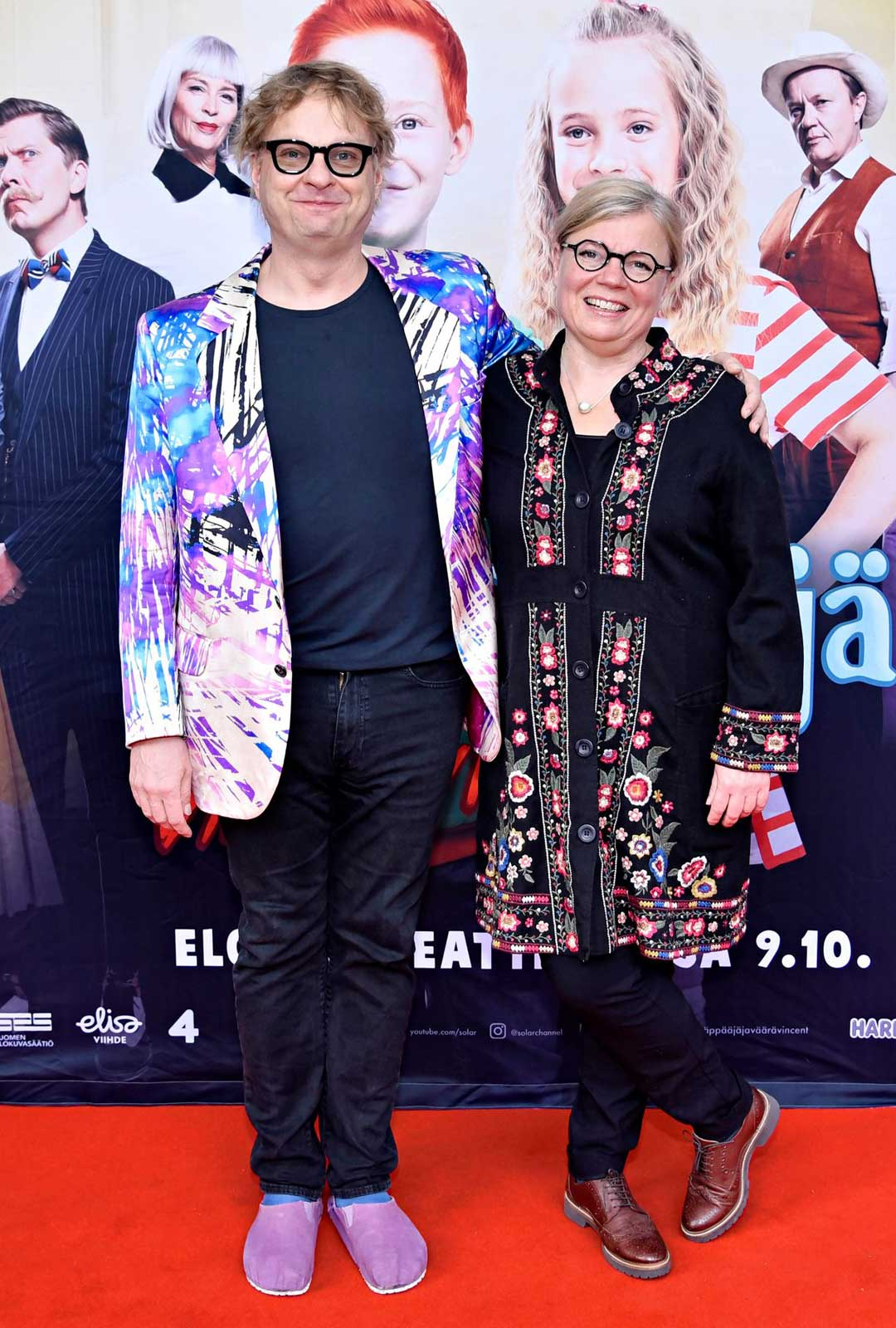 Säveltäjä Iiro Rantala ja näyttelijäpuoliso Lotta Kuusisto.