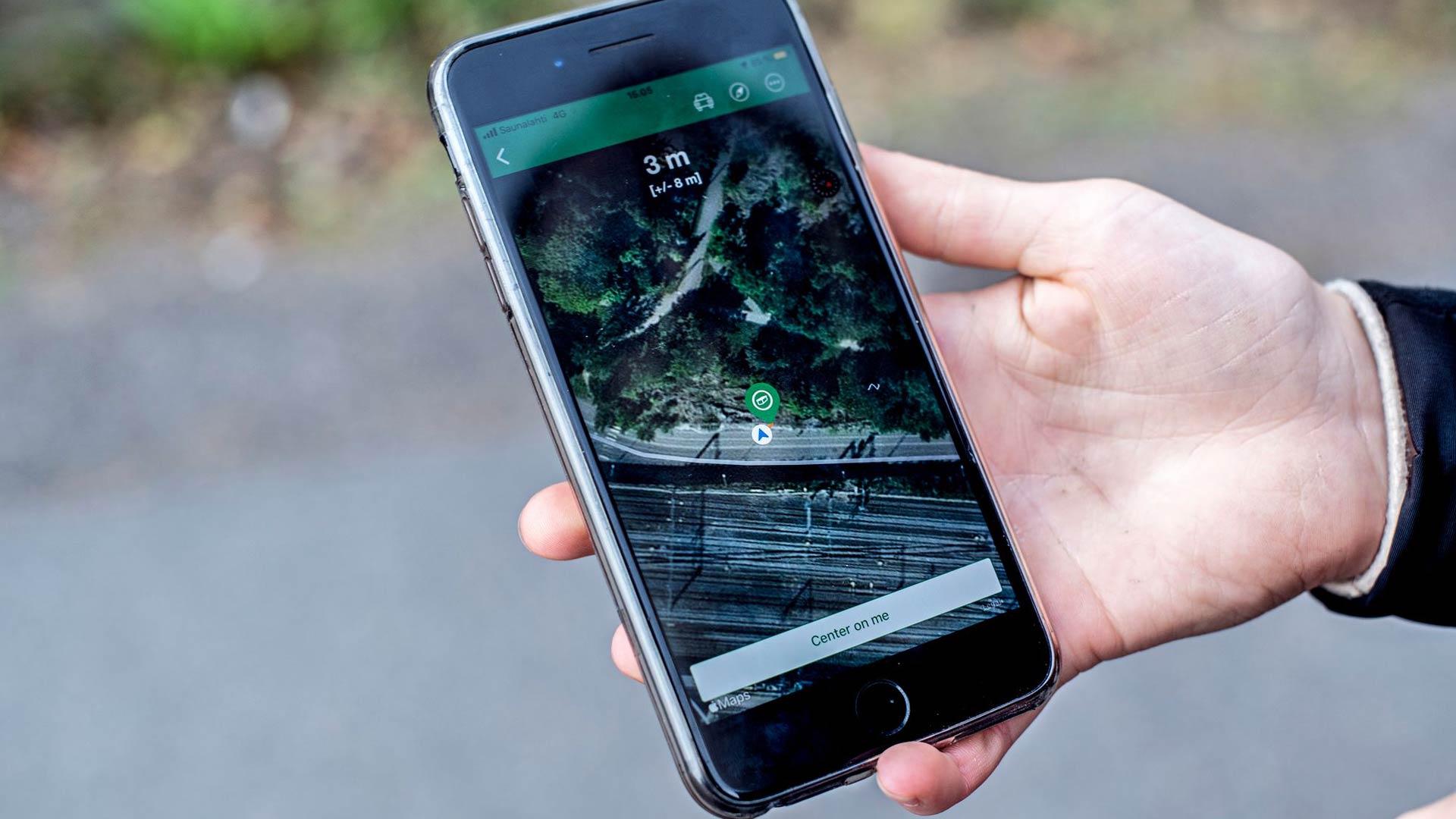 Älypuhelimen gps on geokätköilijän tärkein väline.