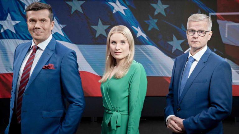 Tommy Fränti, Rosa Kettumäki ja Juha Hietanen juontavat USA:n vaalit 2020 tulosaamua, joka alkaa kello 2.30 tiistain ja keskiviikon välisenä yönä.