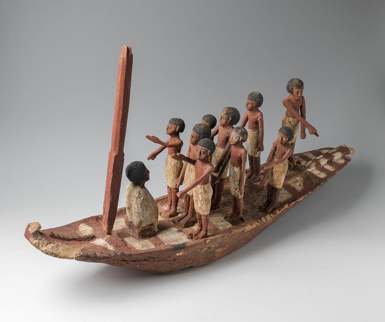 Puusta valmistettu veneen pienoismalli, noin 2000-1600 eaa.