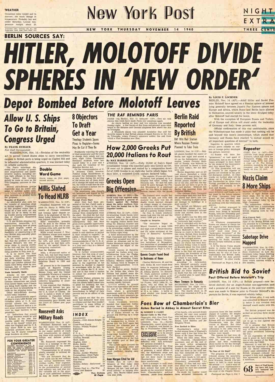 Sekä Iso-Britannian että Yhdysvaltojen valtalehdet Daily Herald ja New York Post noteerasivat Berliinin neuvottelut etusivullaan.