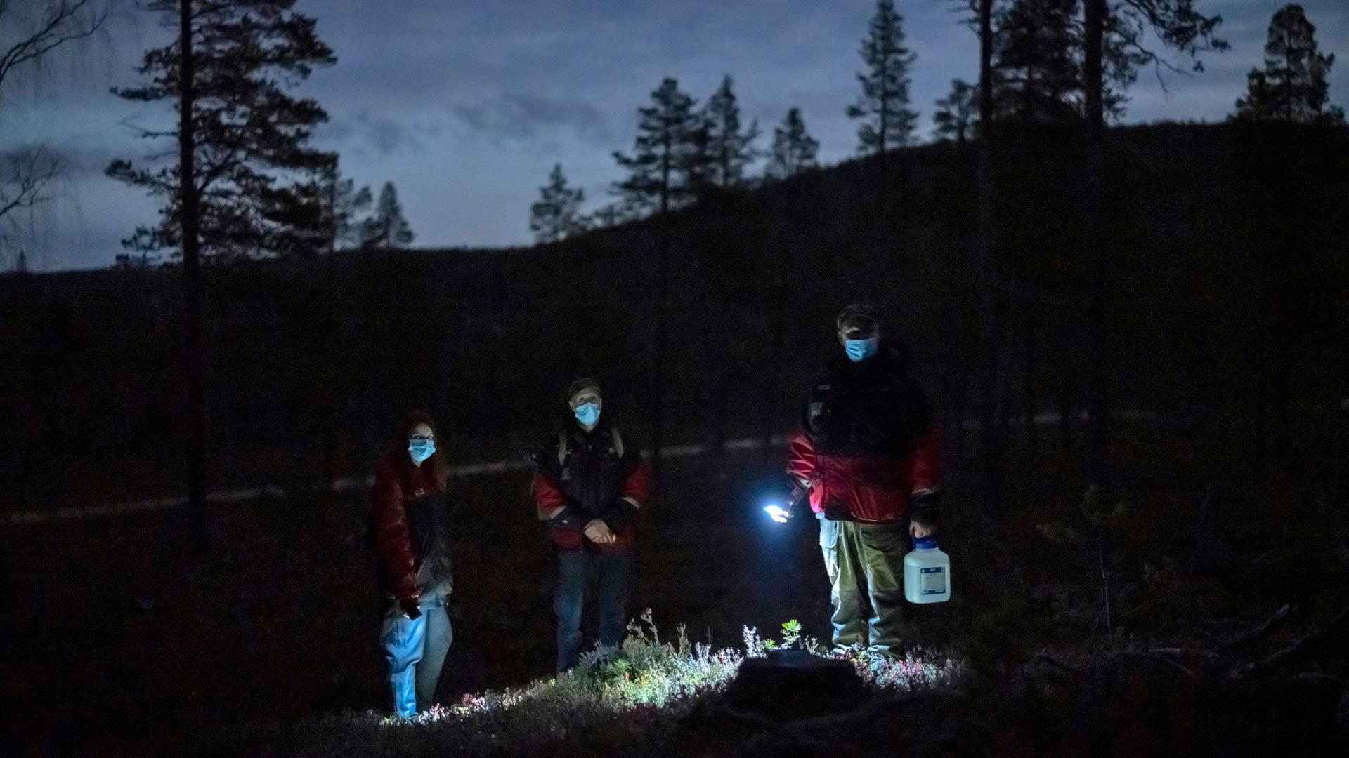 Revontuliretkelle saapuville ulkomaalaisille turisteille pimeässä metsässä olo on elämys. Moni pelkää kohtaavansa tunturin yössä poron, suden tai jopa käärmeen.