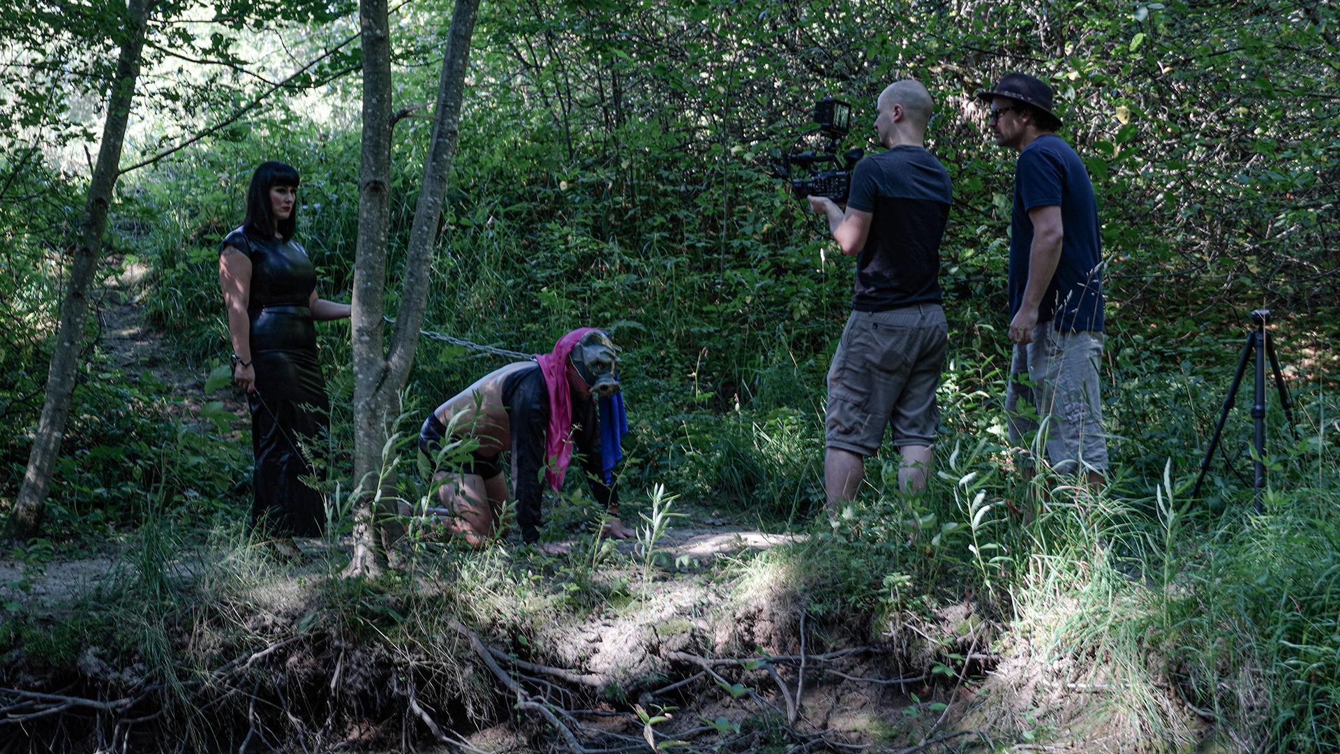 Animal-musiikkivideon kuvauksista.