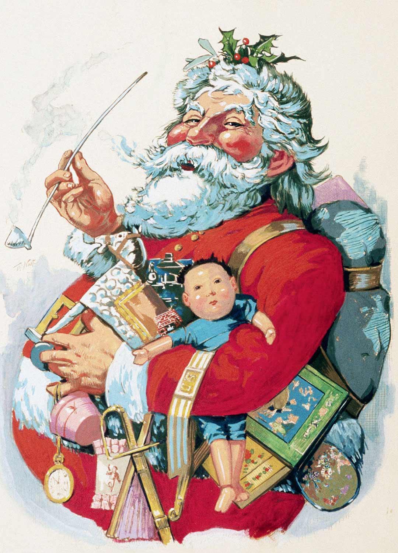Amerikansaksalainen Thomas Nast piirsi ensimmäisenä Joulupukille punaiset vaatteet vuonna 1881. Nastin kynästä syntyivät myös esimerkiksi USA:n republikaanien ja demokraattien puoluetunnuksina käytetyt eläimet.