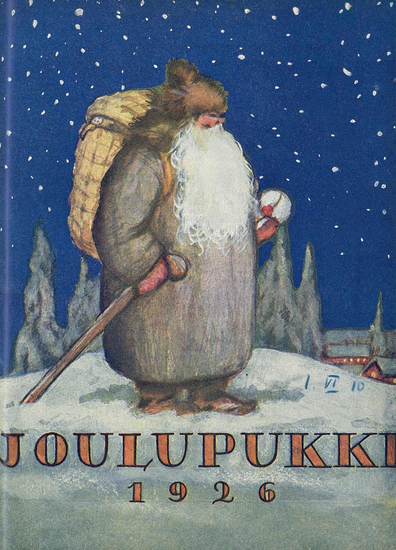 Joulupukki-lehden kansipukissa vuonna 1926 oli vielä jäljellä kekripukin henkeä.
