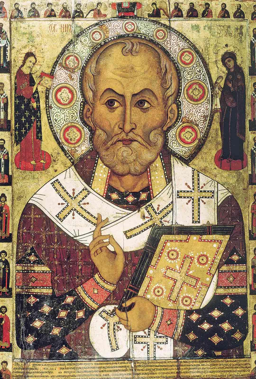 Joulupukin esikuva Nikolaus auttoi ihmisiä hädässä. Pyhä Nikolaus on ortodoksien kunnioitetuin pyhimys Neitsyt Marian jälkeen.