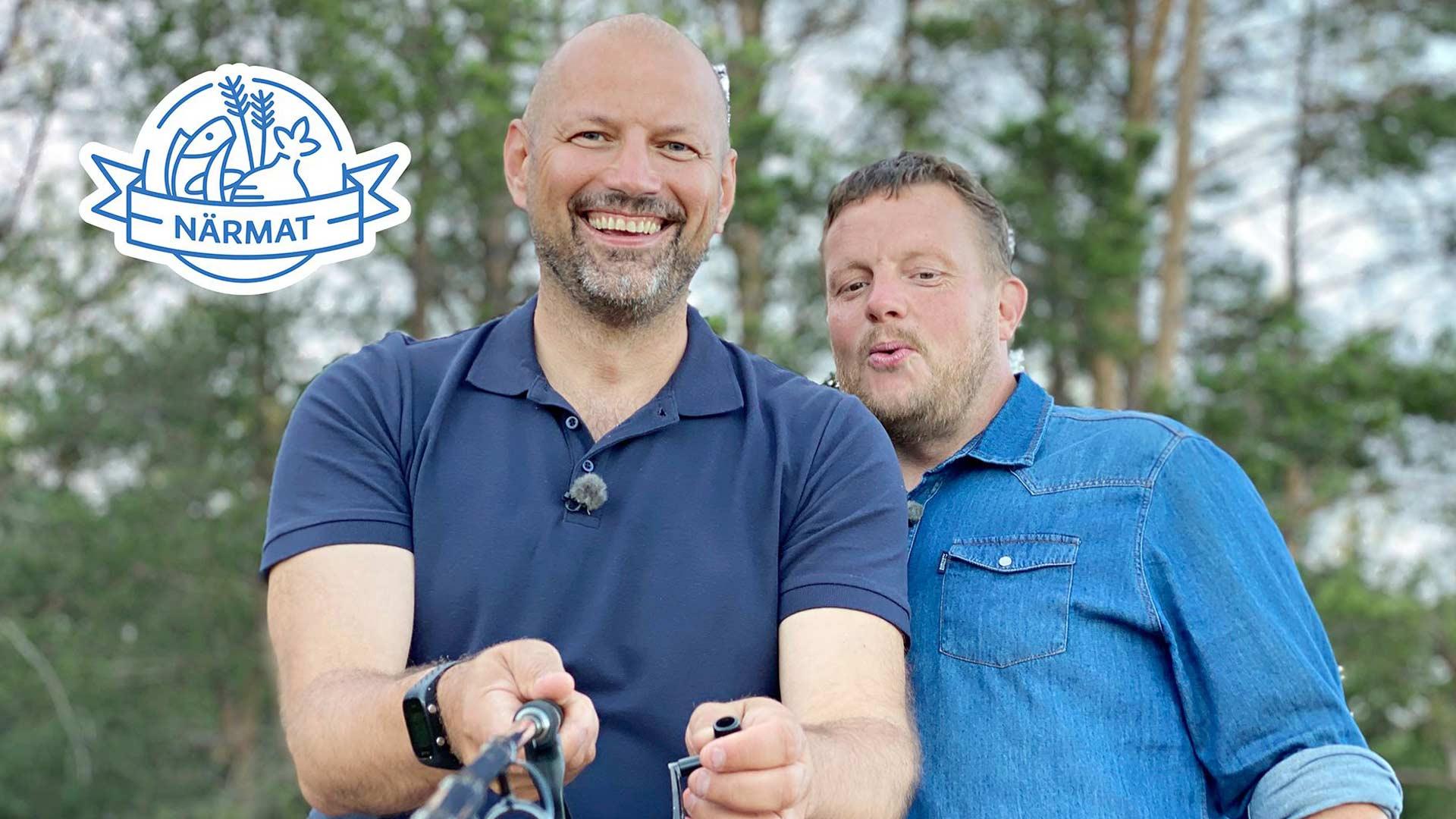 Matias Jungar (kuvassa vas.) ja Micke Björklund (oik.) sarjassaLähiruokaa Turunmaalla.