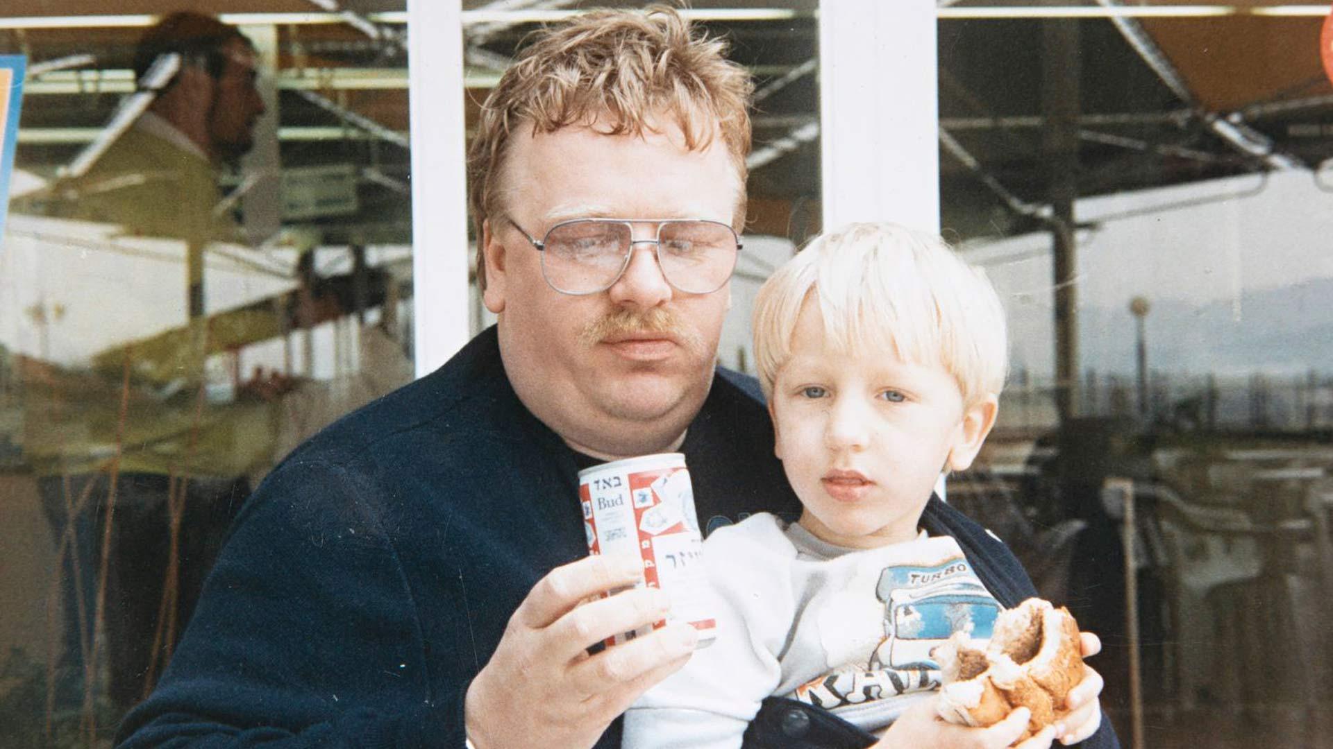 Vuonna 1988 isä ja poika Wiskari Linnanmäellä.