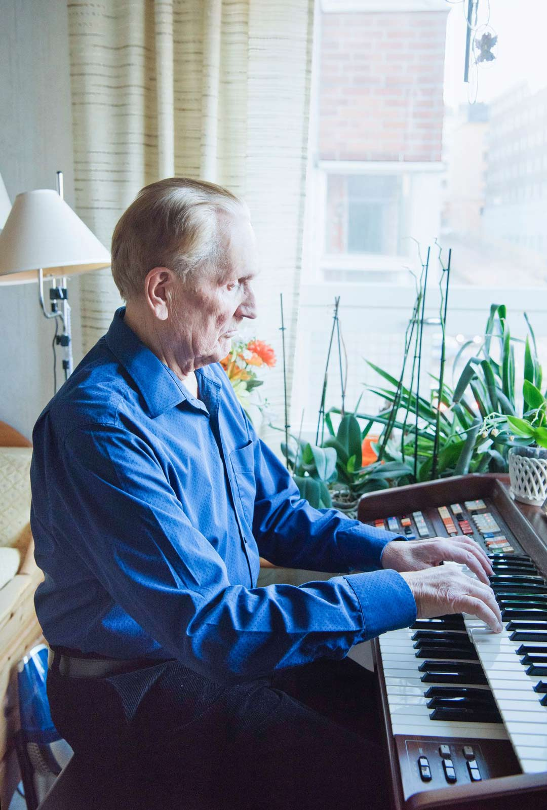Musiikki on Veikko Pöyhösen rakas harrastus.