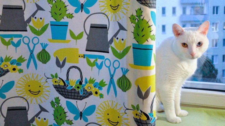 Puutarha-kuosi saa sekä ihmiset että kissat kaipaamaan kesäpuuhia.