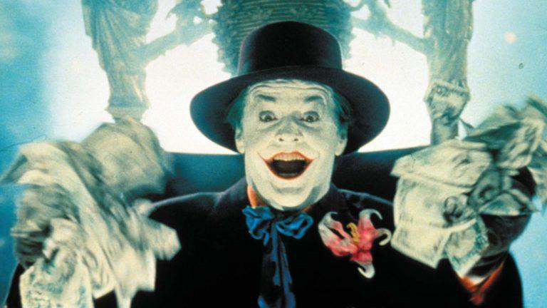 Jack Nicholson esittää kuuluisaa Jokeria elokuvassa Batman.
