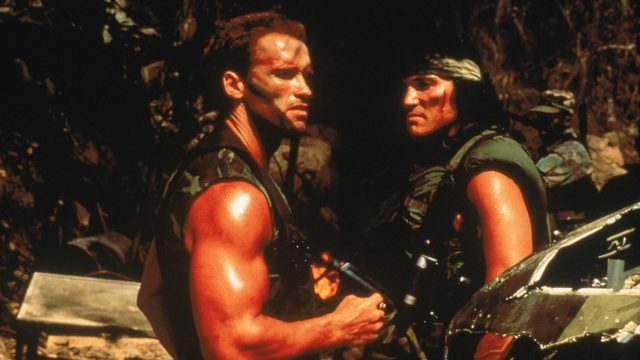 Arnold Schwarzenegger elokuvassaPredator - saalistaja.