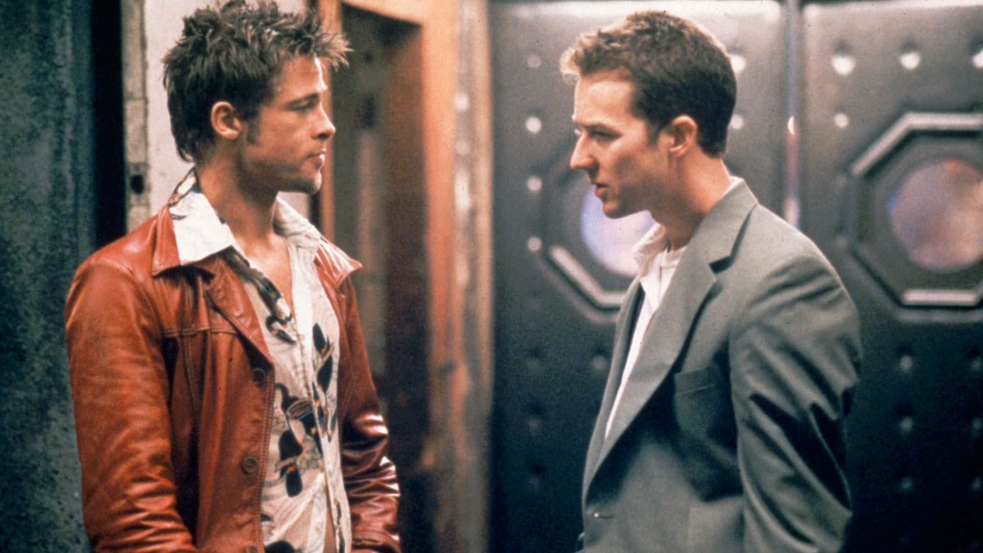 Fight Club, kuvassa Tyler Durden (Brad Pitt) ja Jack (Edward Norton).