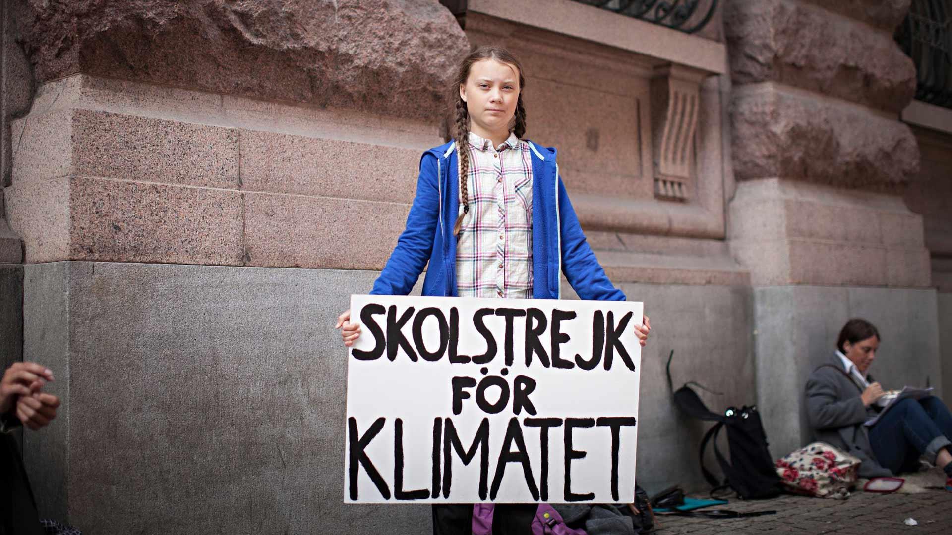 I am Greta, kuvassa Greta Thunberg.
