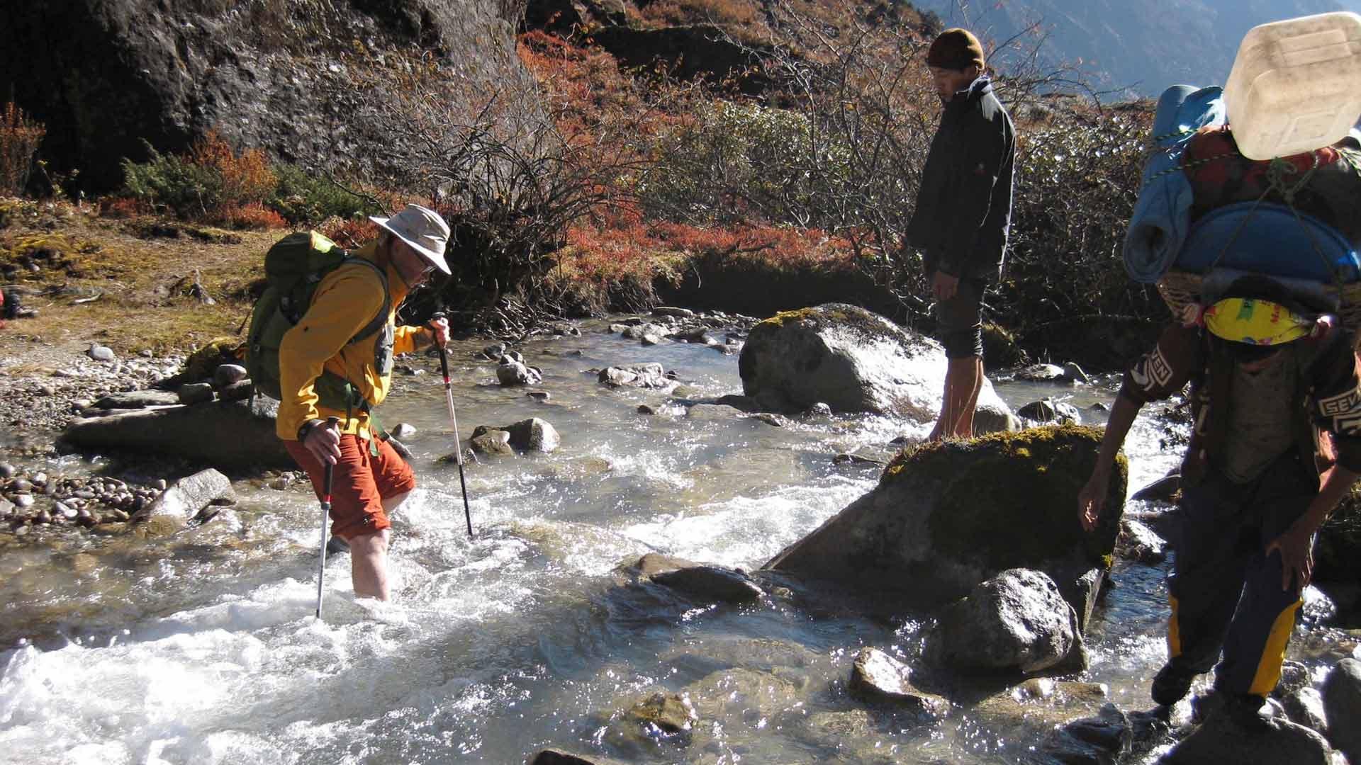 Jäätikköpurot mahdollistavat virkistävän jalkakylvyn lähes päivittäin.