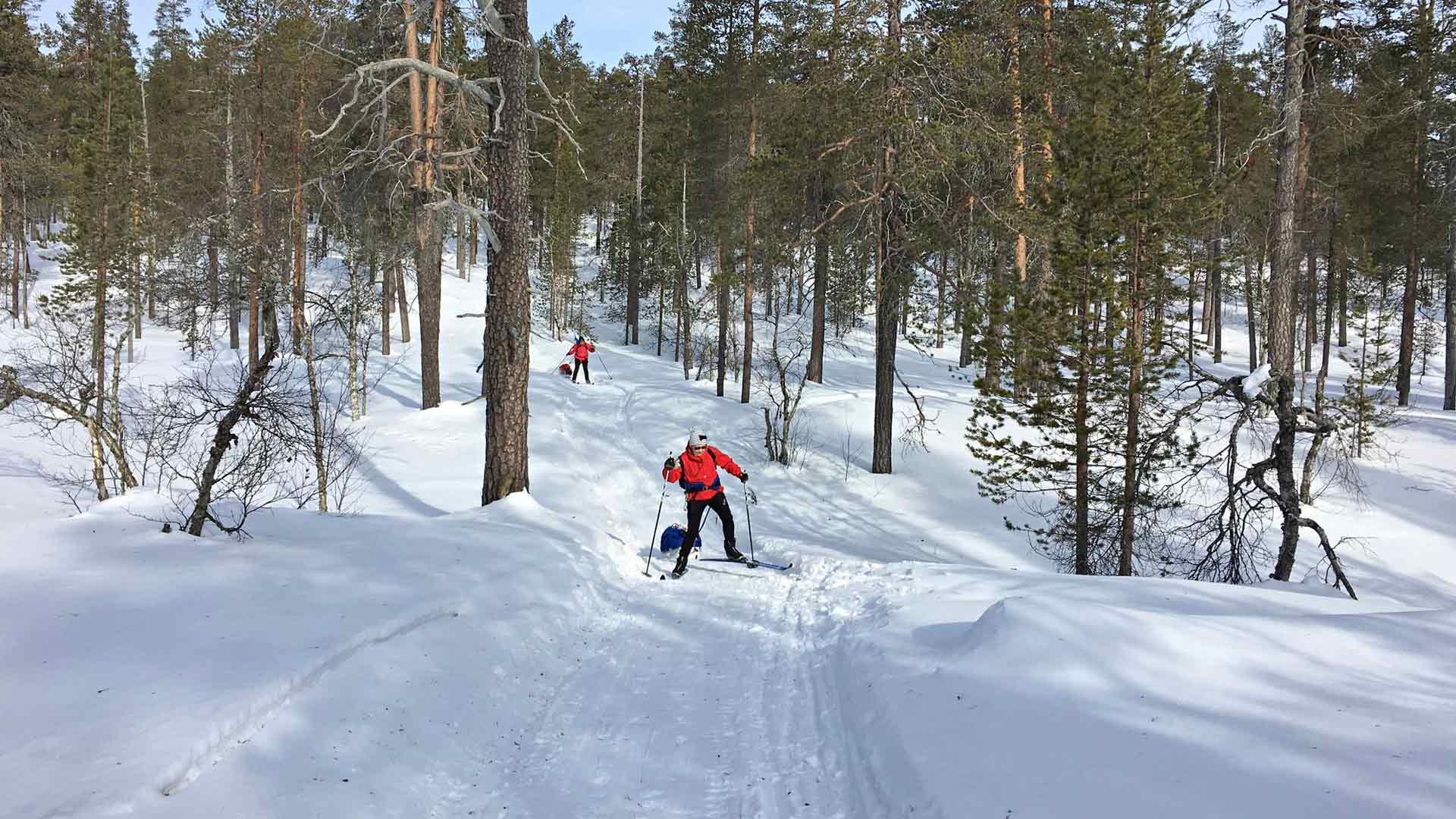 Johanna Peltoniemi on vaeltanut myös Urho Kekkosen kansallispuistossa.