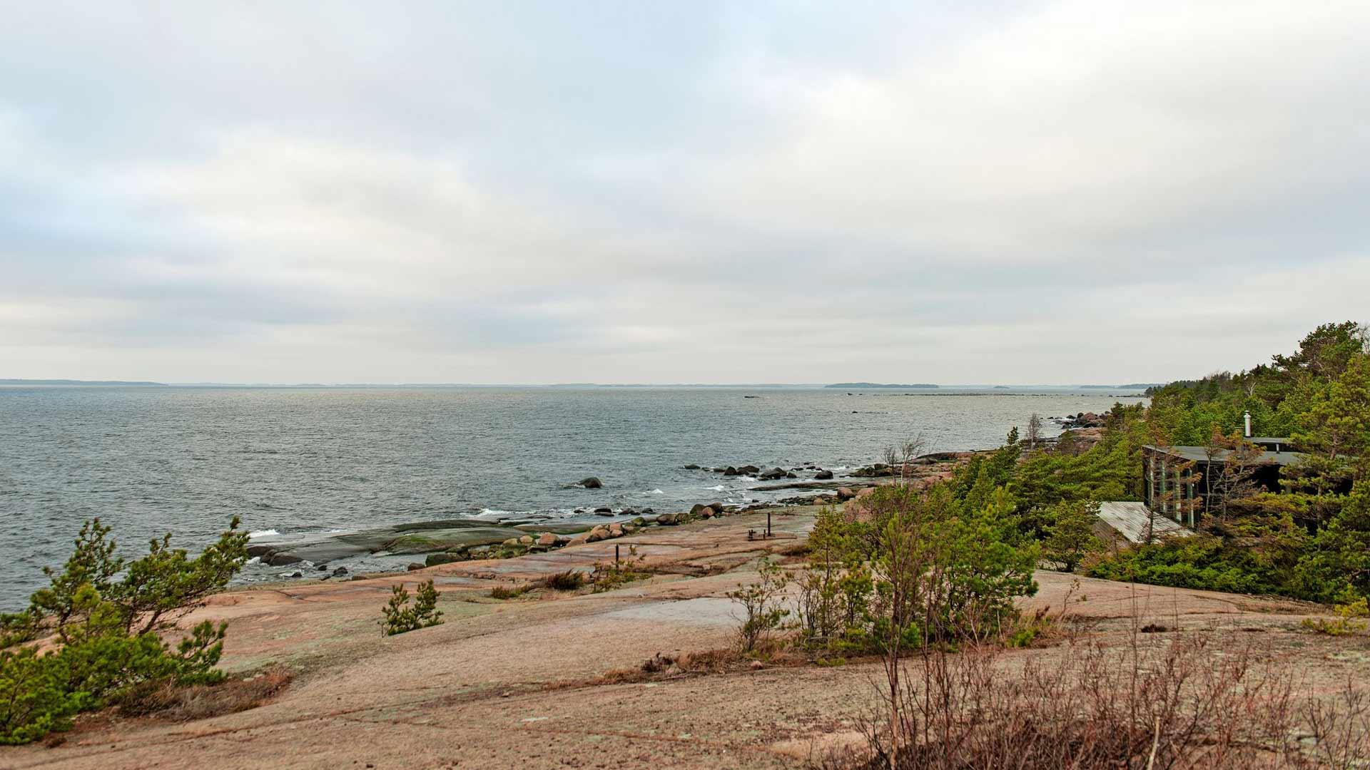 Rankin saaresta avautuu avara maisema rannattomalle ulapalle.