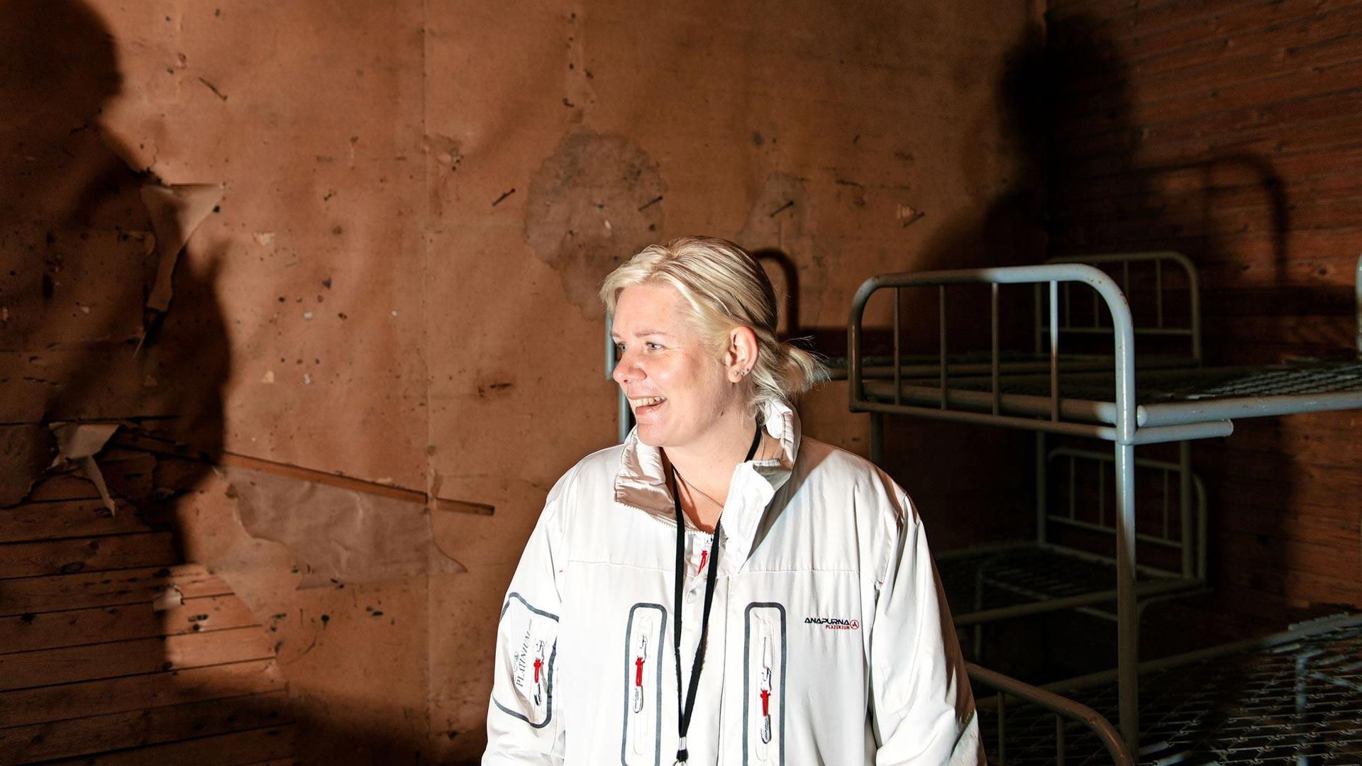 Nina Mellqvist saattaa poiketa jopa yöllä aistimaan Rankin, vuonna 1916 rakennetun vanhan kasarmin salaperäistä tunnelmaa.
