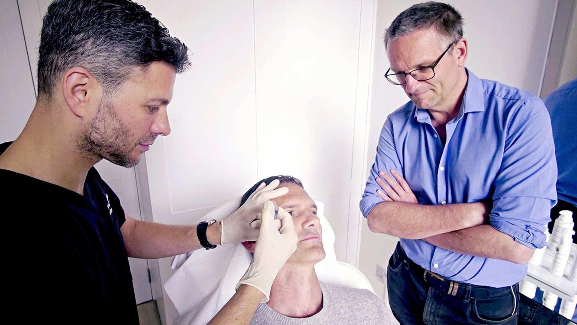 Testissä kosmeettiset hoidot.