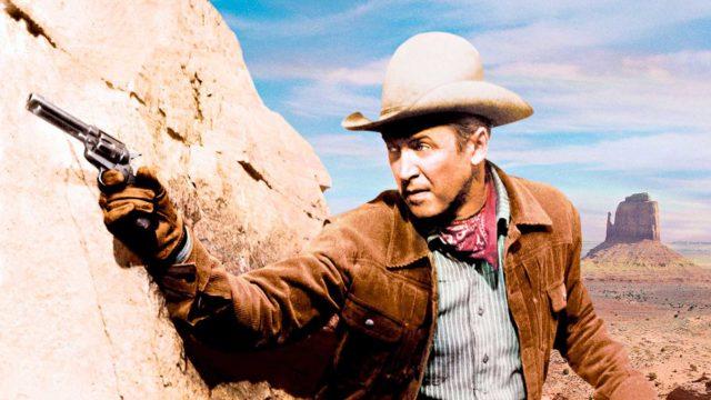 Lukuisien lännenelokuvien sankari James Stewart on elokuvassaMuukalainen Laramiesta Will Lockhart, joka tutkii veljensä murhaa.