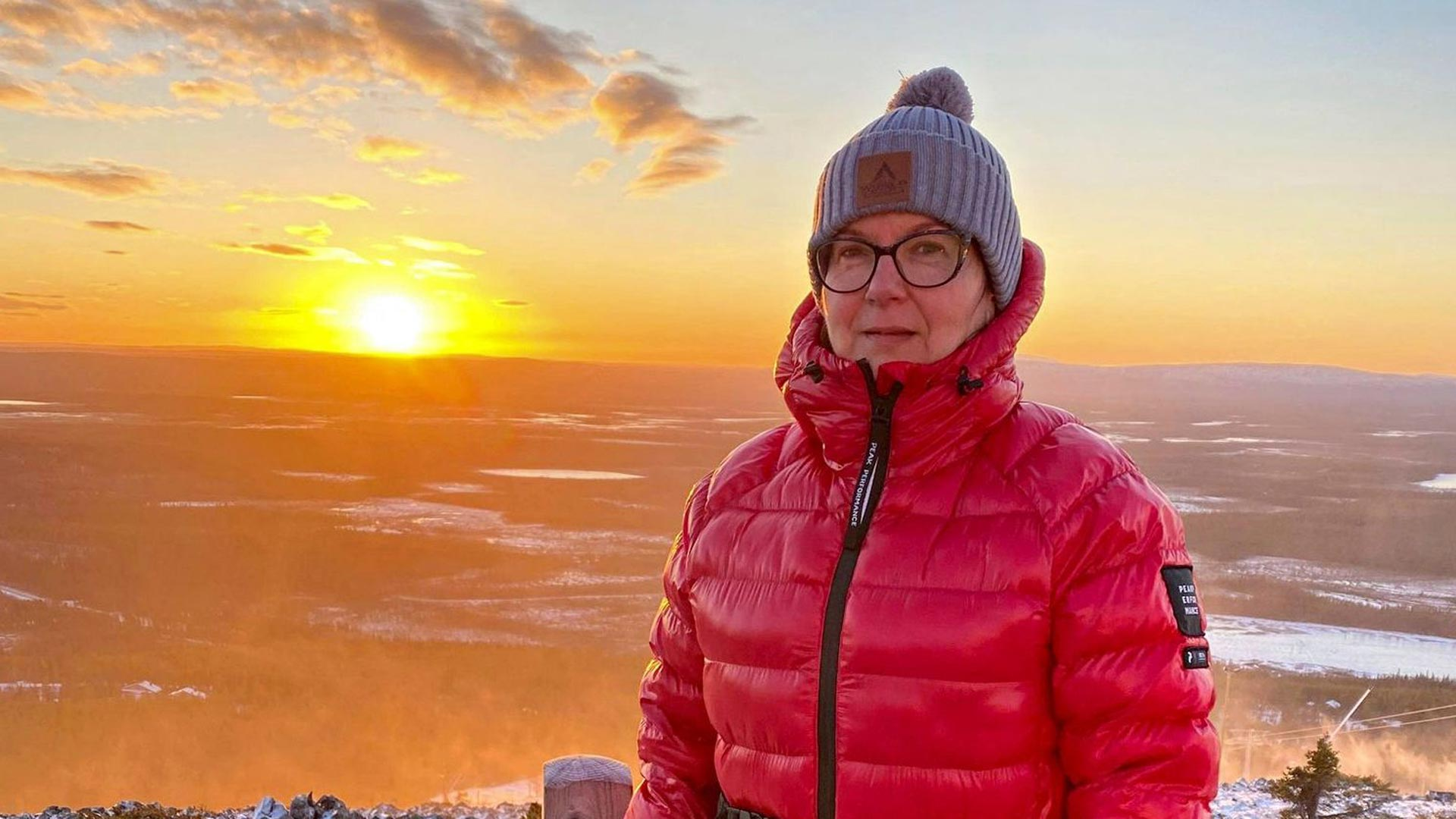 Anne Viitala on ihastunut Levin Huippupolkuun, josta on hienot näkymät kirkkaalla säällä.
