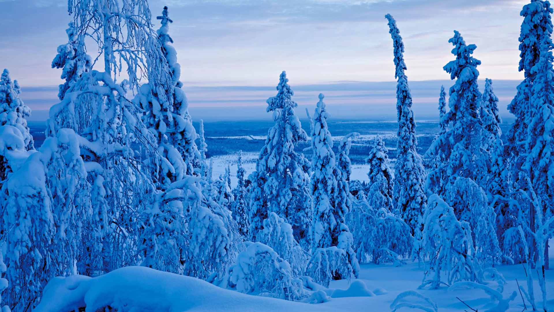 Näissä lumimaisemissa mieli rauhoittuu ja sielu lepää.