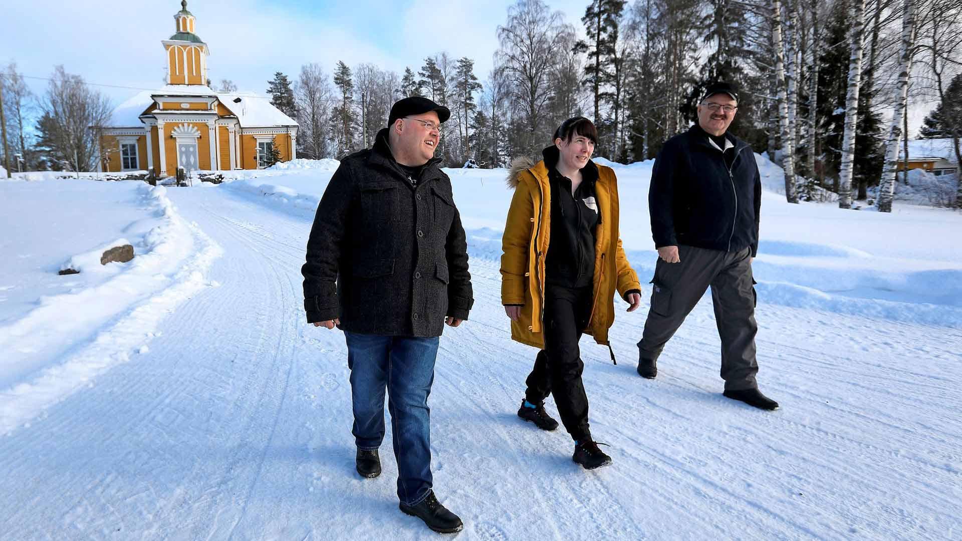 Erno Haavisto, Marjo Koivisto ja Pauli Saarinen kuuluivat kaikki Honkajoen perussuomalaisten viisihenkiseen valtuustoryhmään. Haavisto ja Saarinen ovat taas ehdolla, mutta Koivisto keskittyy nyt perheeseen ja ravintolaansa.