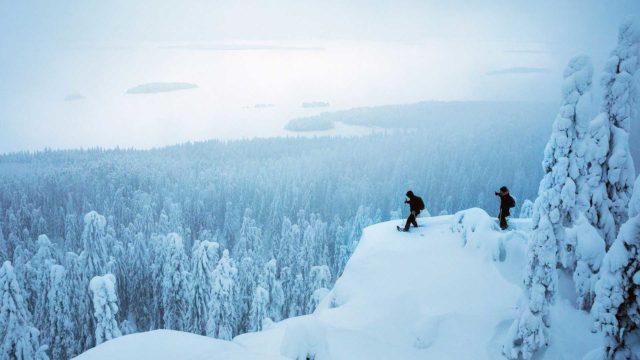 """Talvella Kolin kansallispuistossa on tilaa seikkailla. """"Täällä on ilveksiä, ja viime viikolla nähtiin kärppiä."""""""