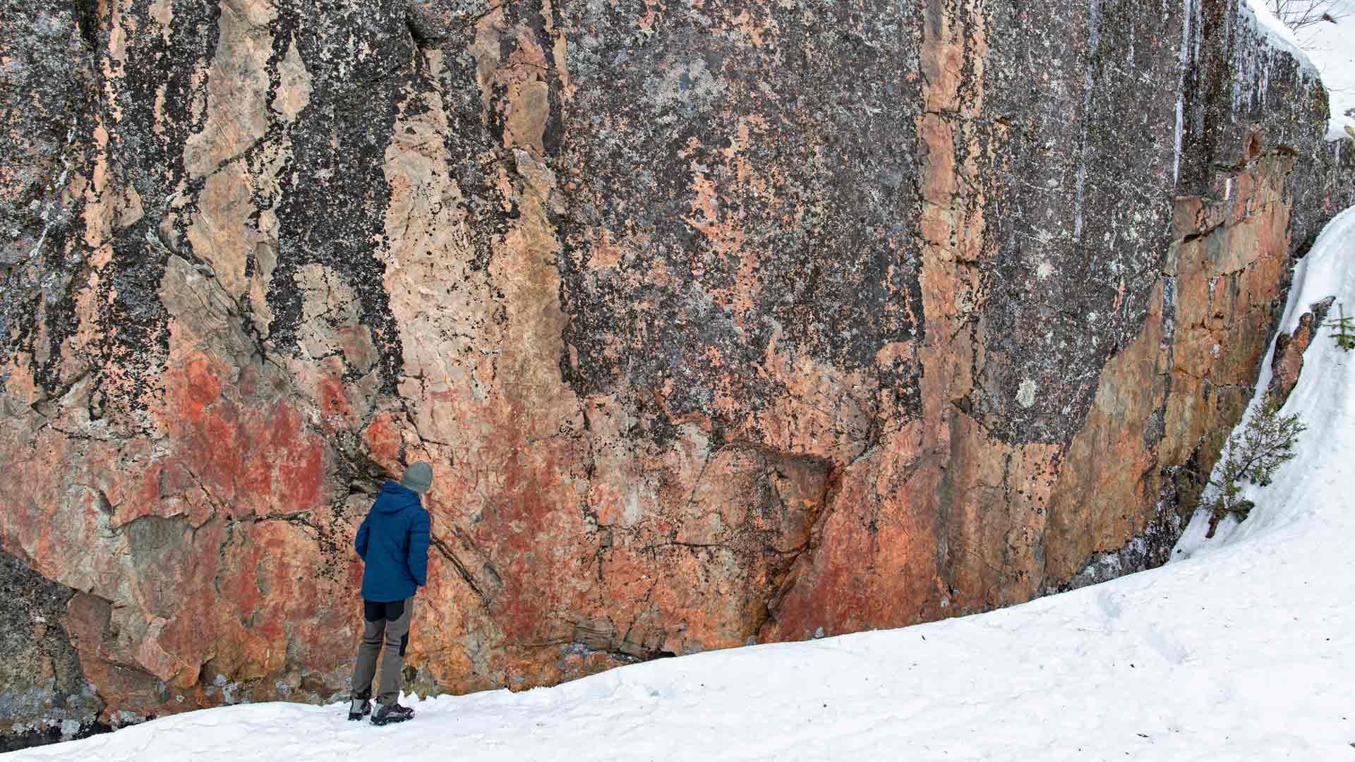 Värikallion kivikautiset maalaukset ovat tuhansien vuosien takaa.