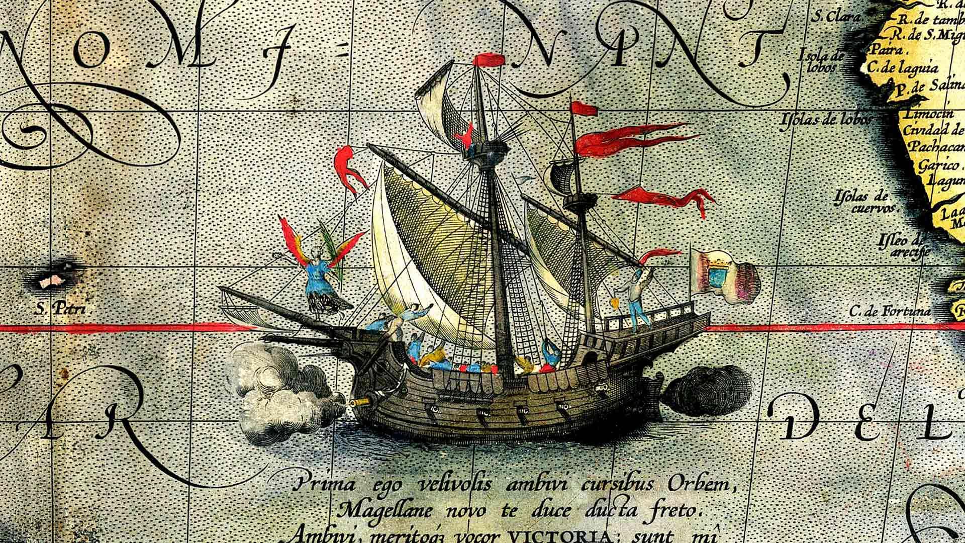 Victoria oli ainoa Sevillaan palannut Magalhãesin kaljuuna, josta tuli samalla ensimmäinen maailman ympäri purjehtinut alus. Sevillaan sen ohjasi kapteeni Juan Sebastian Elcano.