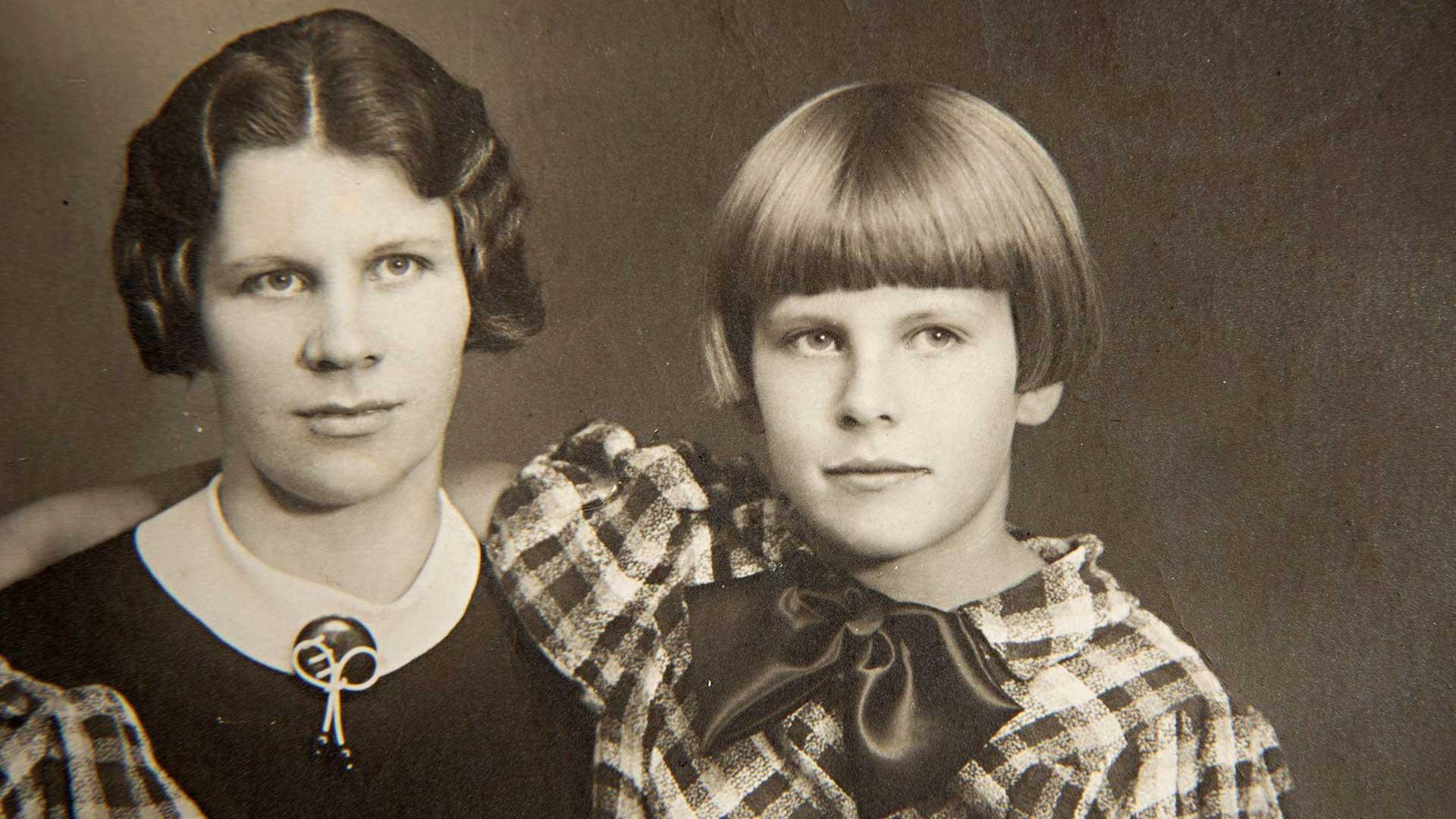 Aira Samulin ja äiti Anna-Liisa Suvio