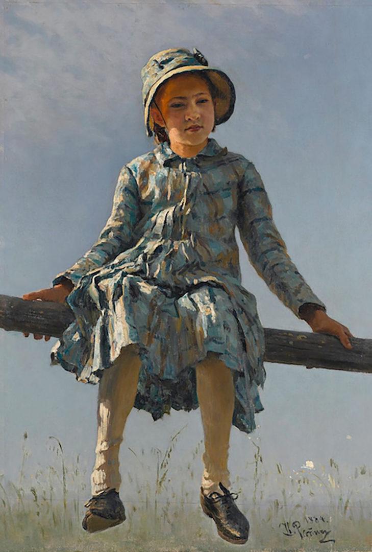 Taiteilija Ilja Repinin tyttären Vera Repinan muotokuva Pyryharakka.