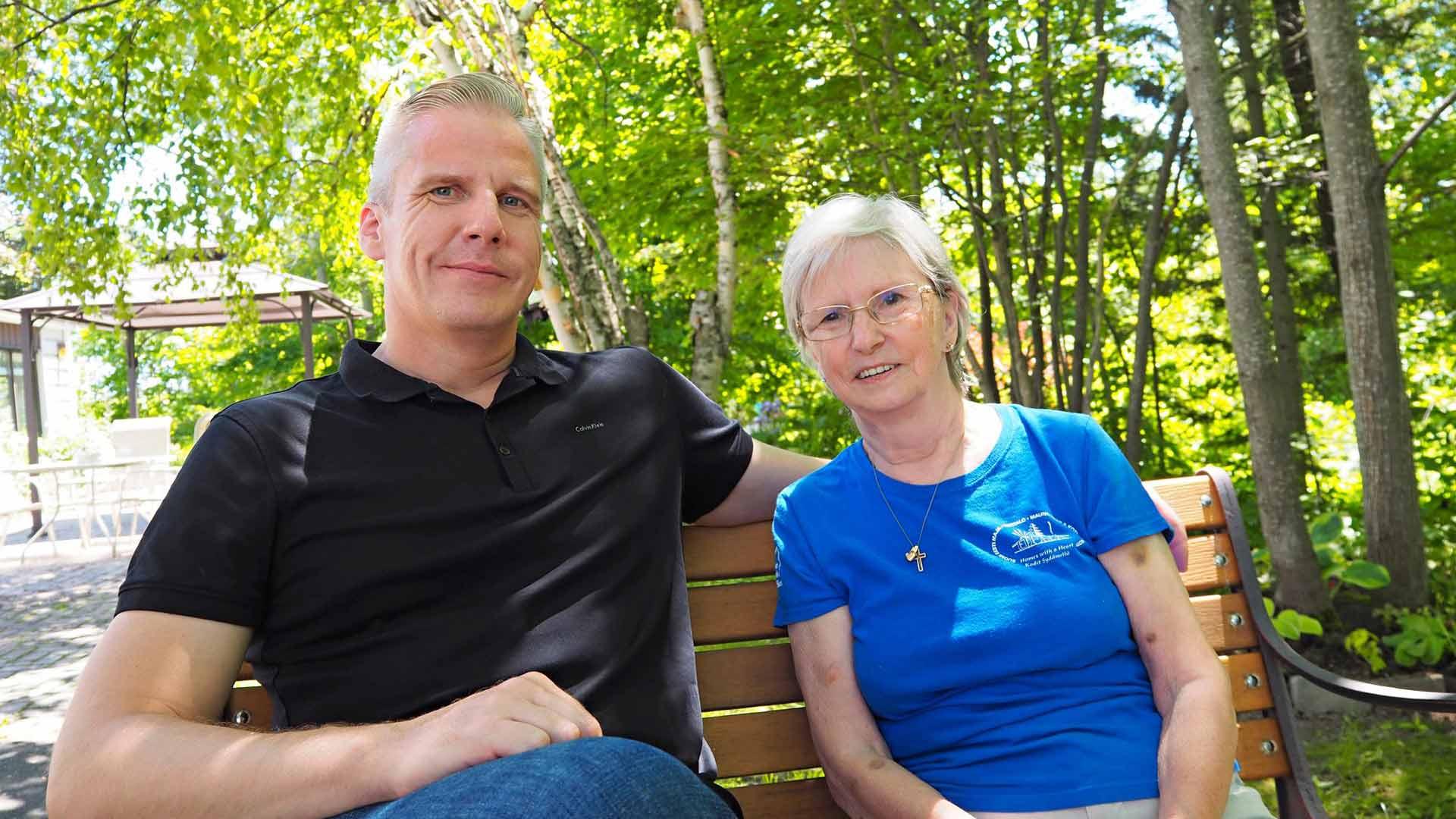 Roy Rissanen ja äiti Mirjam