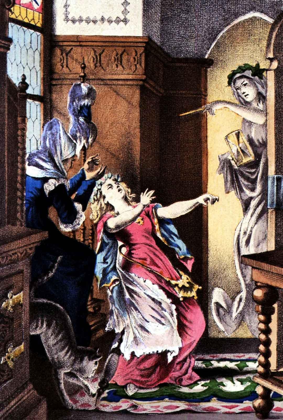 Prinsessa Ruusunen tainnutetaan koomaan, josta vain se oikea prinssi voi hänet herättää. Tarinan italialaisissa versioissa nukkuva prinsessa myös raiskataan. Ranskalaisessa versiossa prinsessan paha anoppi yrittää teurastaa Ruususen lapset eli omat lapsenlapsensa.