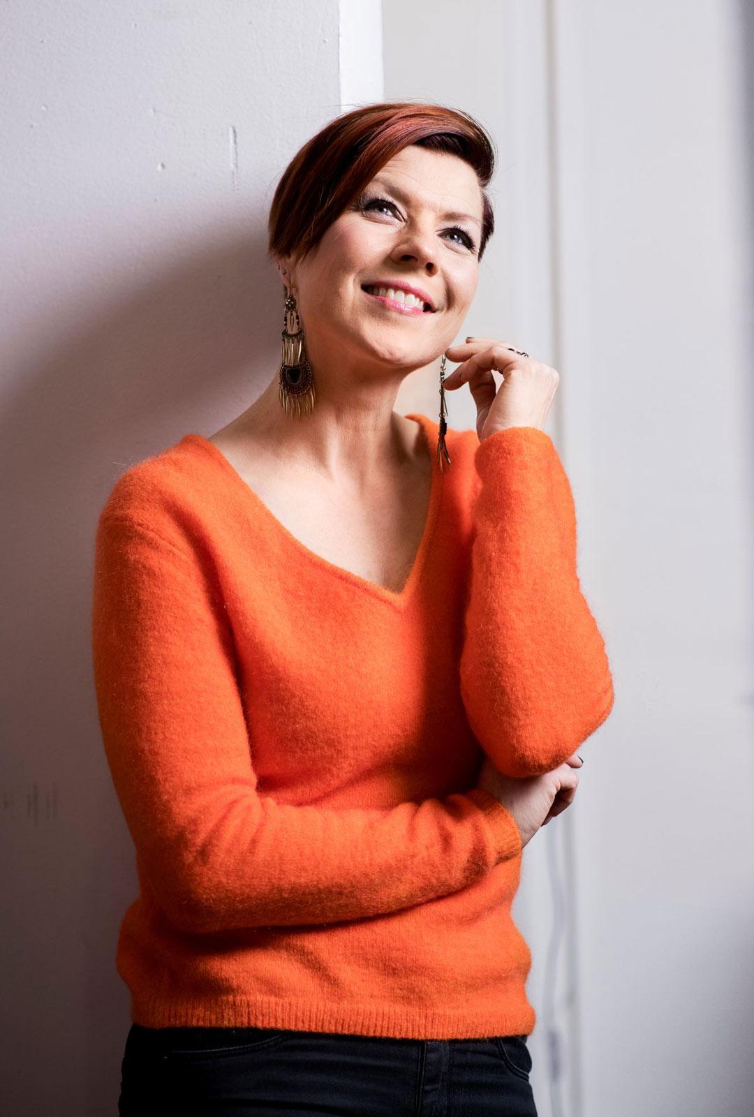 Laulaja Heidi Kyrö.
