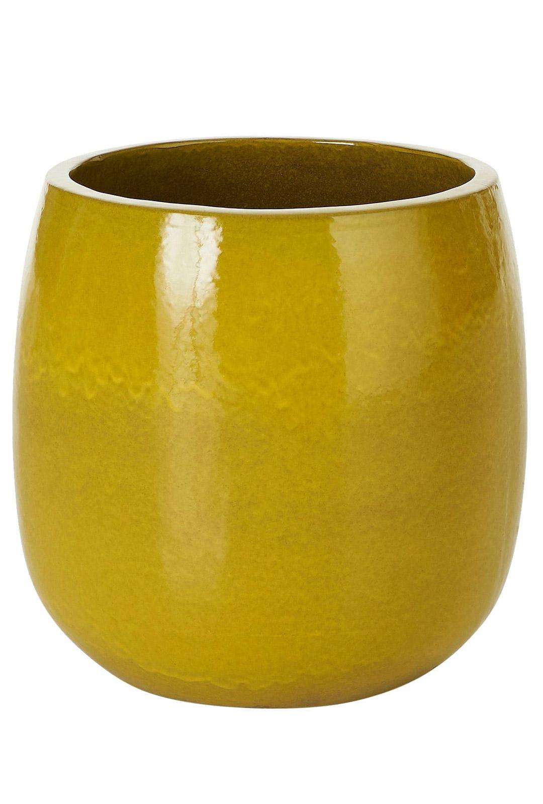 Värikäs ruukku kerää jo itsessään katseet. Sen kaveriksi sopivat hyvin nyt niin trendikkäät heinät ja heinämäiset kasvit. Daggkåpa-ruukku on pakkasenkestävää, lasitettua keramiikkaa. Kork. 47 cm, halkaisija 44 cm. 139 e, Ellos.