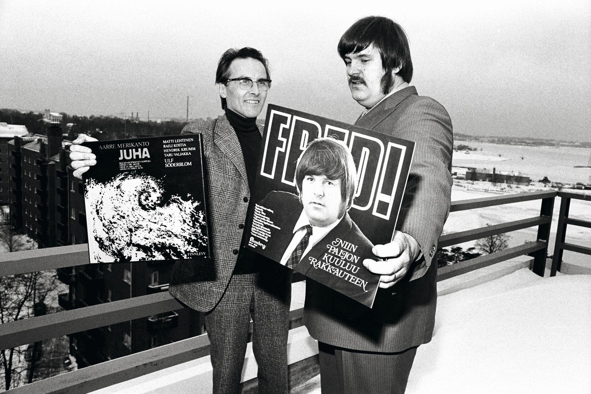 Fredin levy Niin paljon kuuluu rakkauteen palkittiin kevyen musiikin ykkösenä vuonna 1973. © Lehtikuva