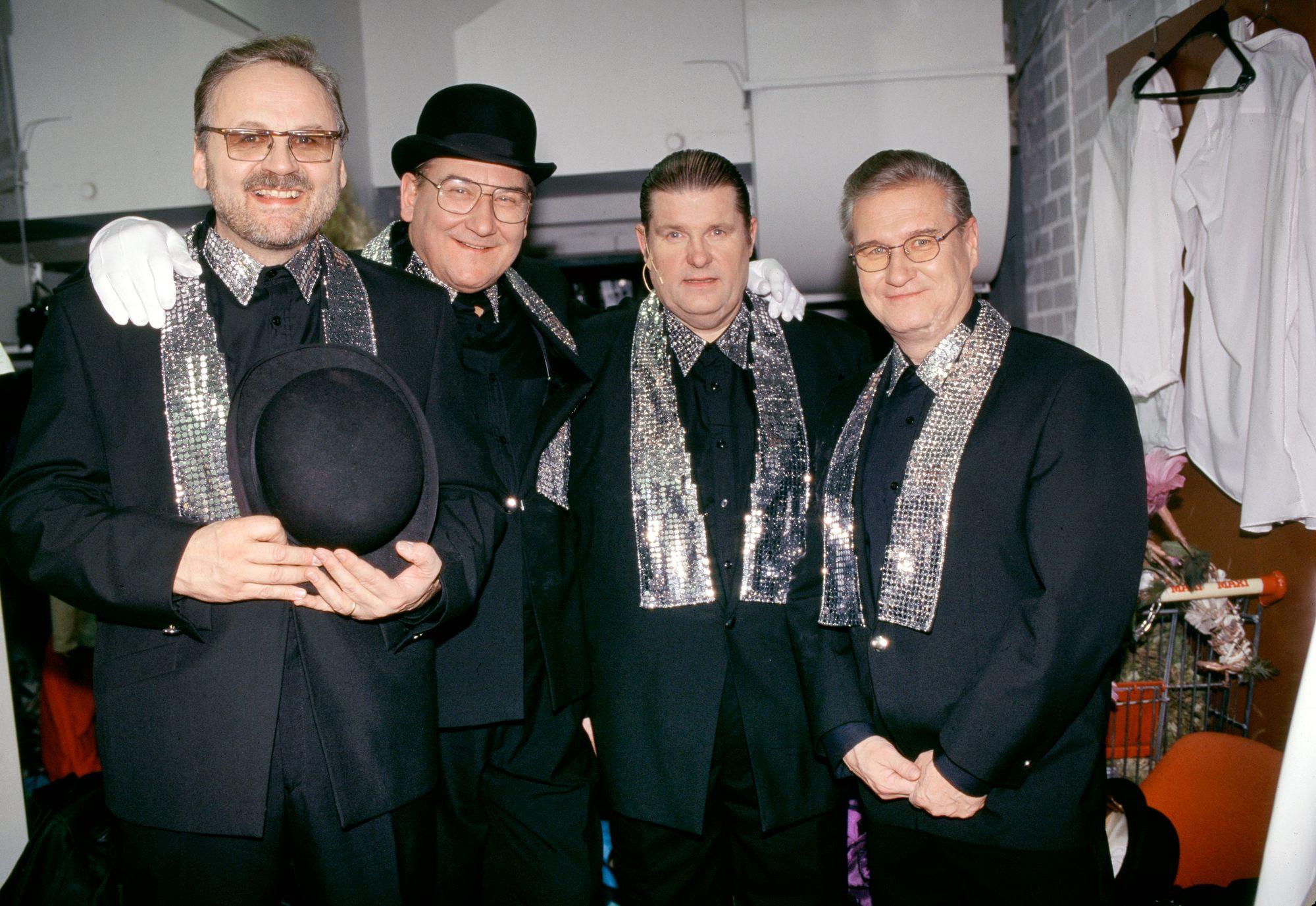 Kivikasvot kokoonpanossa Ilkka Hemming, Ismo Sajakorpi, Matti Siitonen ja Vesa Nuotio vuonna 1996. © Paula Kukkonen/Skoy