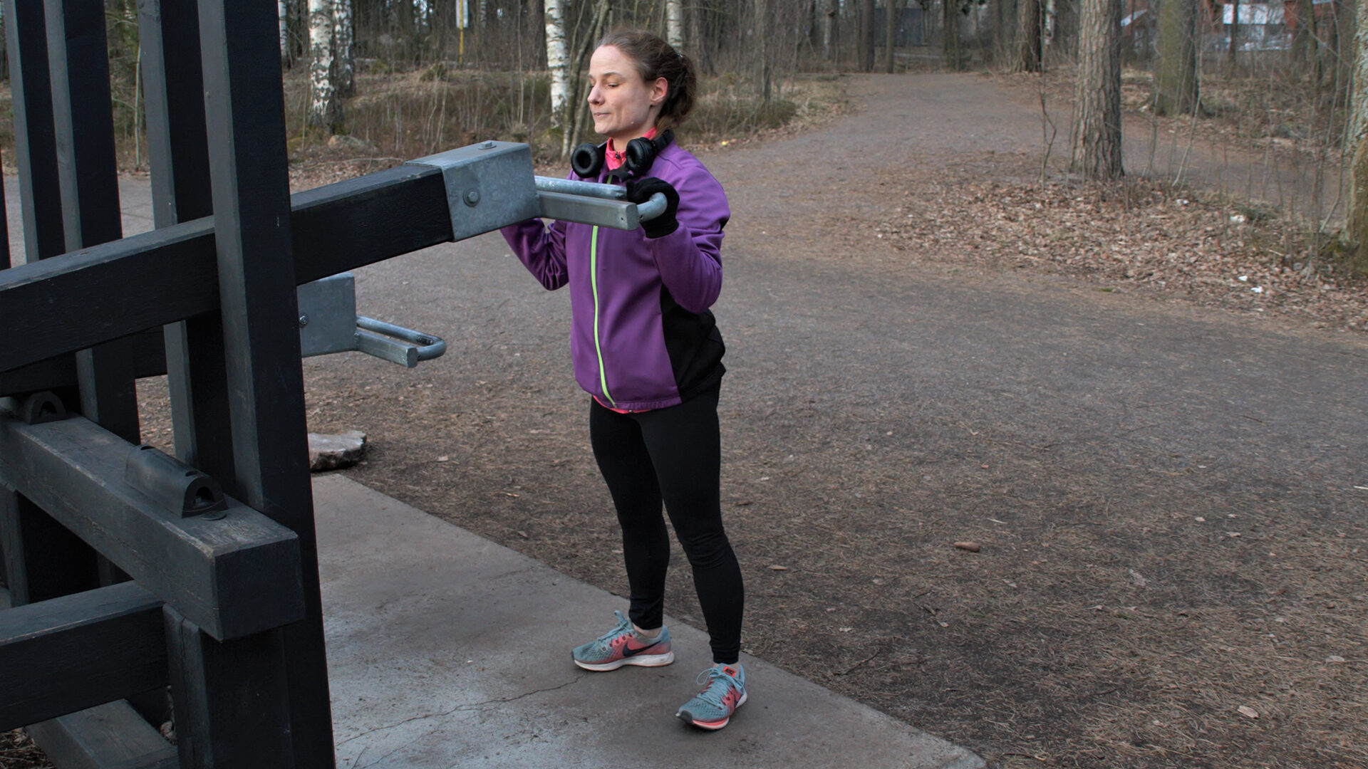 Anne Nordström treenaa