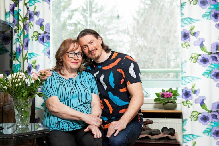 Tommi Evilä ja äiti Sylvia
