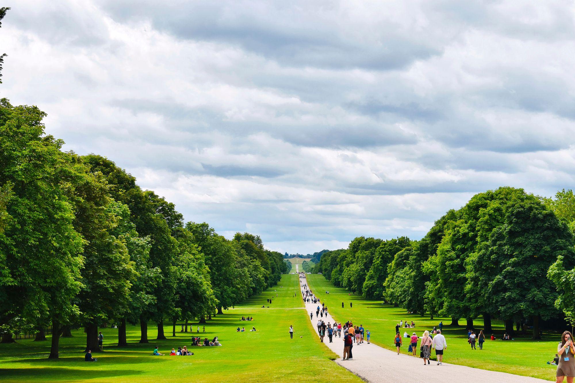 The Long Walk on pyhitetty kävelijöille, pyöräily ei ole siellä sallittu. © iStock