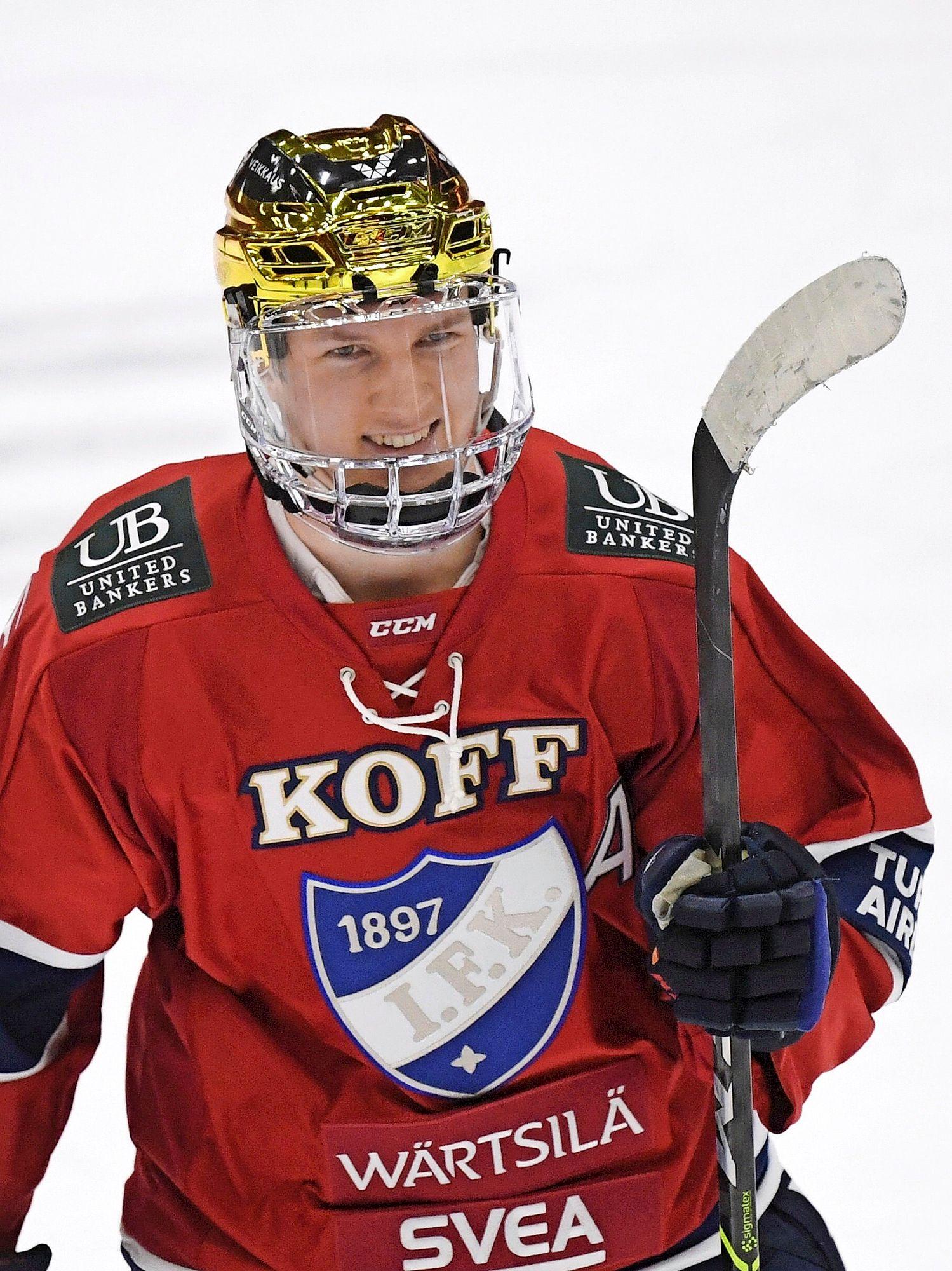 19-vuotiaan Anton Lundellin nappikausi HIFK:ssa palkittiin kutsulla miesten maajoukkueeseen. Kauden aikana hän pelasi myös alle 20-vuotiaiden MM-kisoissa. © Vesa Moilanen/Lehtikuva