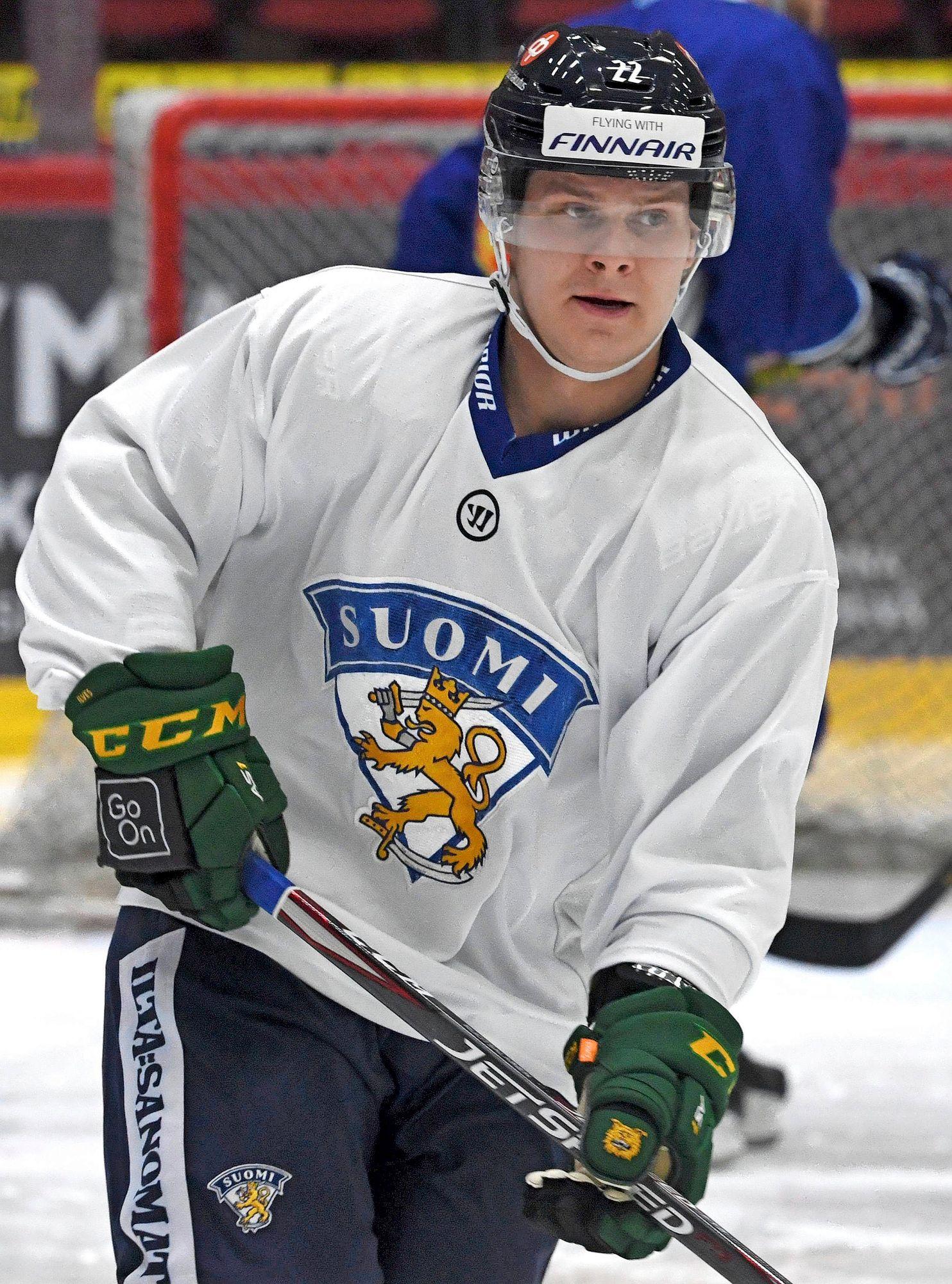 Arttu Ruotsalainen oli tämän kevään Leijonien ensimmäinen NHL-vahvistus. © Jussi Nukari/Lehtikuva