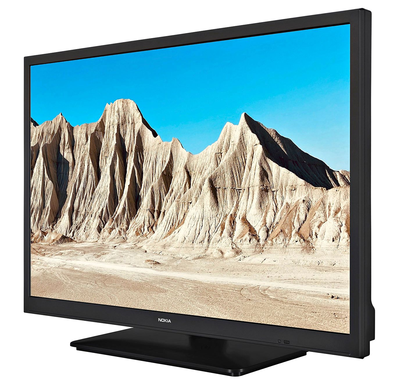 Poimi katseltavaa internetistä, antennista ja kännykästä. Pieni ja kevyt älytelevisio on helppo napata mukaan matkailuautoon ja mökille. 24-tuumainen Nokia Smart TV 2400A maksaa 300 euroa. © Nokia