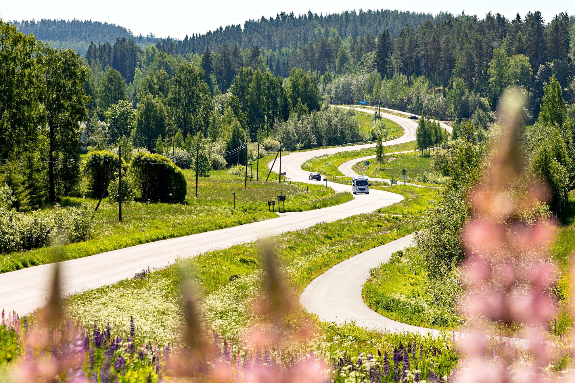 Haminalahden kulttuuripolku Kuopiossa on huikea yhdistelmä von Wrightin maalariveljesten taidetta ja savolaismaisemaa. © Petri Jauhiainen