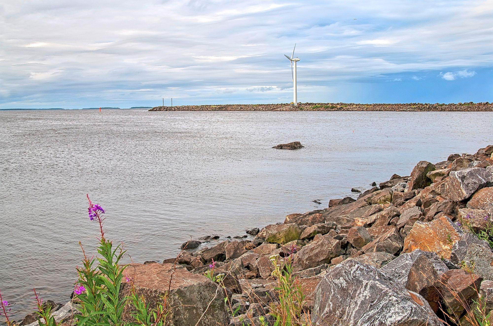 Reposaari. Finland. Windmill on the shore of The Gulf of Bothnia © Ojimorena