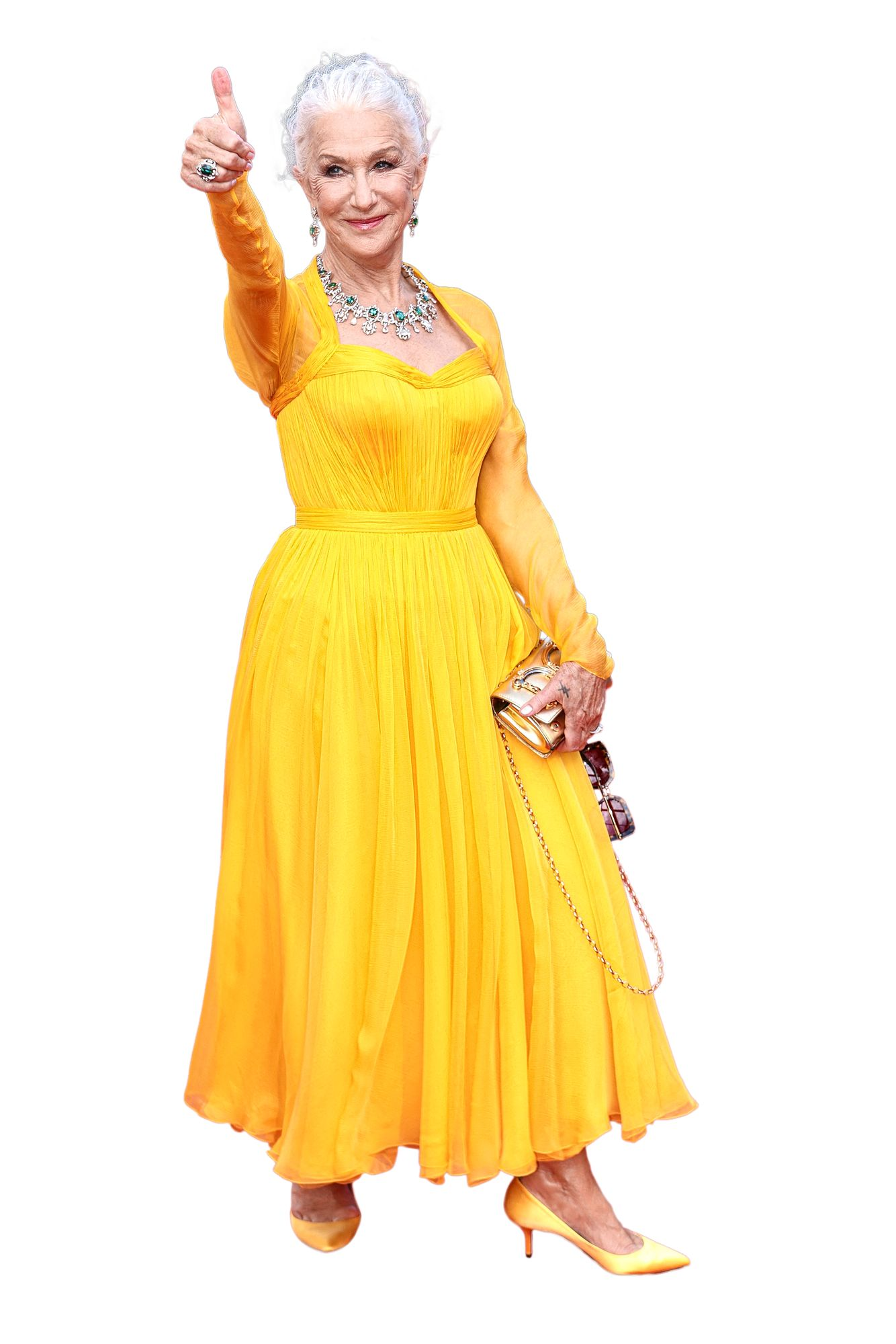 Aina tyylikäs Oscar-voittaja Helen Mirren oli yksi elokuvafestivaalien avajaisseremonian väriläiskistä. Pian 76 vuotta täyttävä Helen antoi myös leikkimielisyytensä näkyä kameroiden edessä. © Ptertainment / ddp USA / MVPhotos