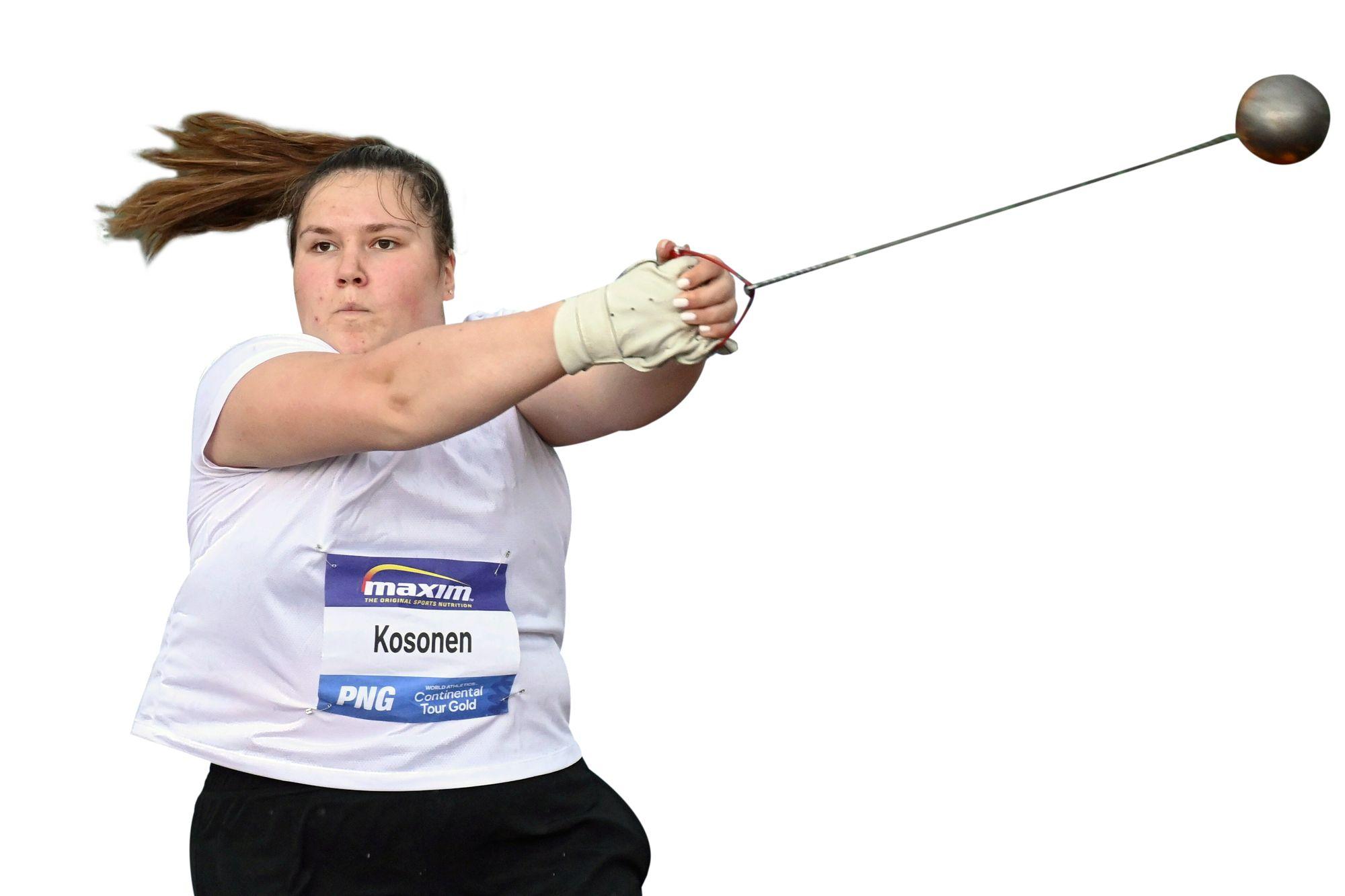 Silja Kosonen on tehnyt tänä kesänä alle 20-vuotiaiden maailman ennätyksen. © Vesa Moilanen / Lehtikuva