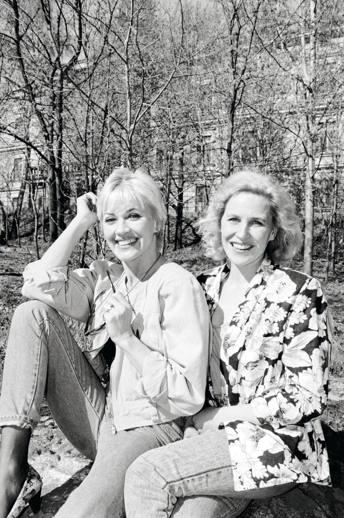 Yhteistyö näyttelijä Hannele Laurin kanssa alkoi 1980-luvun lopulla Vesku Show'ssa. Hynttyyt yhteen -sarjassa Eija näytteli eloisaa karjalaisnaista Vappua. © Erkki Raskinen / IS / Lehtikuva