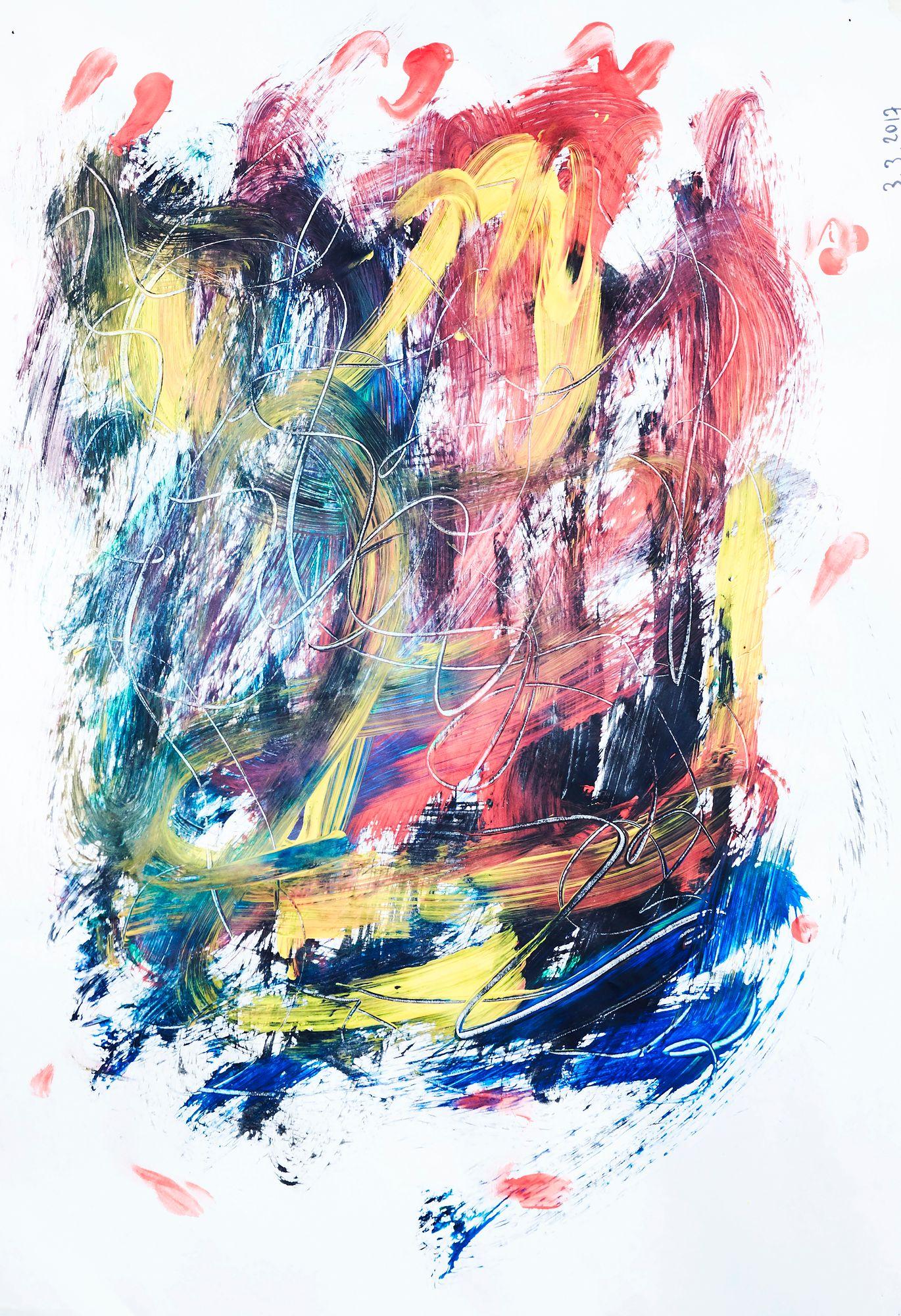 Seurakunnan järjestämä taideterapia on ollut Helille tärkeä keino käsitellä menetyksiä. © Sara Pihlaja